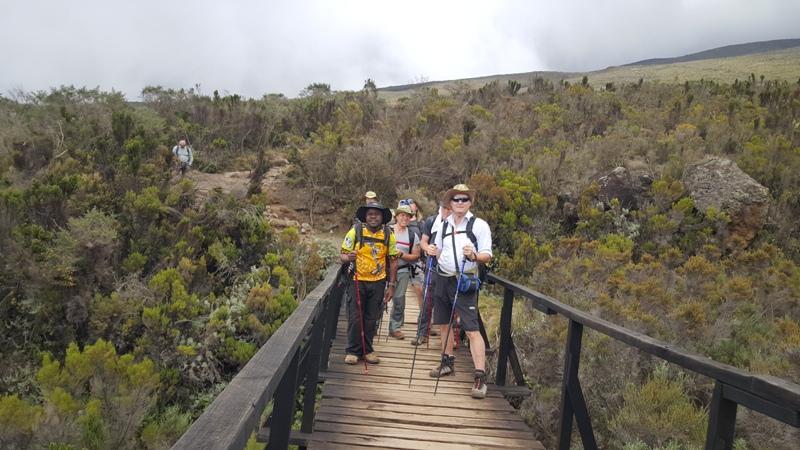 Tourists on a 5 Days Marangu Route