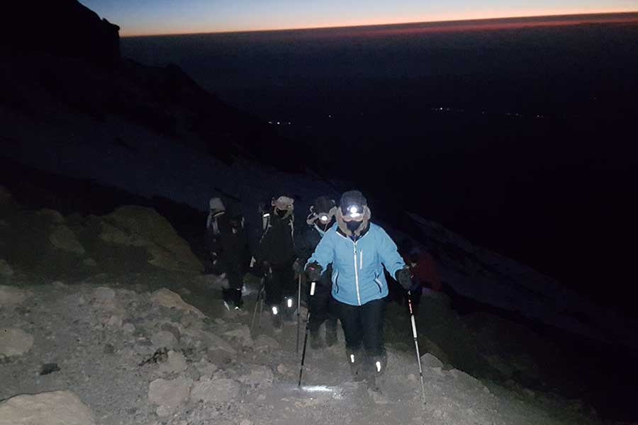 Summit asault on a 7 days Machame Roue Trekking